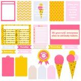 Las muestras y los símbolos para organizaron a su planificador Imagen de archivo libre de regalías