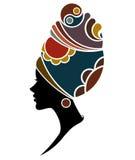 Las mujeres africanas siluetean modelos de moda en el fondo blanco Fotos de archivo