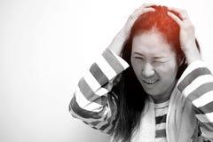 Las mujeres asiáticas están doliendo Foto de archivo libre de regalías