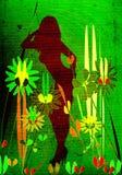 Las mujeres siluetean y las flores libre illustration