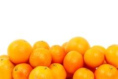 Las naranjas aislaron muchos Foto de archivo libre de regalías
