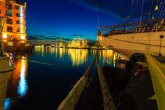 Las naves altas compiten con en puerto el 26 de julio de 2014 en Bergen, Noruega Fotografía de archivo