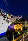 Las naves altas compiten con en puerto el 26 de julio de 2014 en Bergen, Noruega Foto de archivo