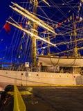 Las naves altas compiten con en puerto el 26 de julio de 2014 en Bergen, Noruega Imagen de archivo libre de regalías