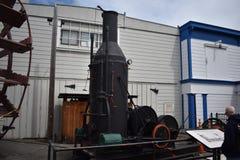 Las naves cuecen el motor de burro al vapor, ahora en la exhibición imagen de archivo libre de regalías