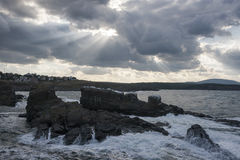 Las naves en un día tempestuoso Fotos de archivo