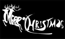 Las Navidades, vector, ilustrador, letra, escritura corriente stock de ilustración