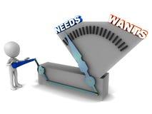 Las necesidades encima quieren Imágenes de archivo libres de regalías