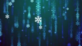 Las nevadas festivas del copo de nieve llueven animado dinámico del nuevo de la calidad del fondo de la animación de la forma mov libre illustration
