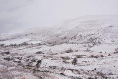 Las nevadas pesadas en el piso arman, el Sur de Gales, Reino Unido imágenes de archivo libres de regalías
