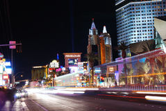 las noc pasek Vegas fotografia stock