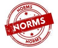 Las NORMAS apenaron el sello rojo stock de ilustración