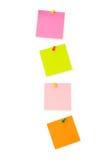 Las notas del recordatorio aislaron Foto de archivo
