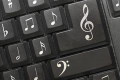 Las notas del teclado. imagenes de archivo