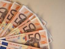 Las notas euro del EUR, UE de la unión europea con la copia espacian Imagen de archivo libre de regalías