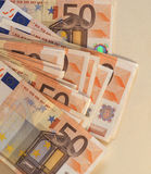 Las notas euro del EUR, UE de la unión europea con la copia espacian Fotografía de archivo libre de regalías