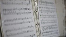 Las notas musicales se cierran para arriba almacen de video
