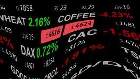 Las noticias curvadas del tablero del teletipo de la materia del índice del mercado de acción de las divisas alinean en el fondo  libre illustration