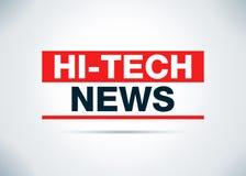 Las noticias de alta tecnología resumen el ejemplo plano del diseño del fondo libre illustration