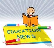 Las noticias de la educación exhiben el ejemplo social de los medios 3d ilustración del vector