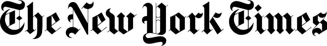 Las noticias del logotipo de New York Times libre illustration