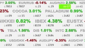 Las noticias del tablero del teletipo de la materia del índice del mercado de acción de las divisas alinean en el fondo blanco -  libre illustration