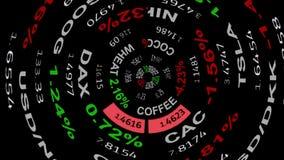 Las noticias del tablero del teletipo de la materia del índice del mercado de acción de las divisas del espacio de Digitaces alin ilustración del vector