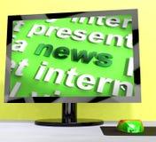 Las noticias redactan en el ordenador Foto de archivo libre de regalías