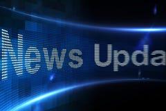 Las noticias se ponen al día en la pantalla digital Fotografía de archivo libre de regalías