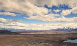 Las nubes blancas largas observadas de observatorio del Mt Juan señalan Imágenes de archivo libres de regalías