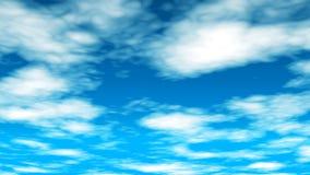 Las nubes de la difusión vuelan con 01 almacen de metraje de vídeo