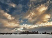 Las nubes del invierno Imágenes de archivo libres de regalías