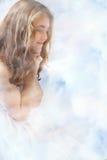 Las nubes del ángel ruegan Imágenes de archivo libres de regalías