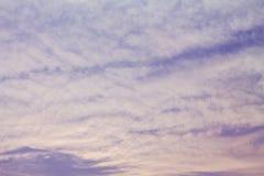Las nubes en el cielo fotos de archivo libres de regalías