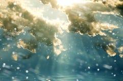 Las nubes que nievan Imágenes de archivo libres de regalías