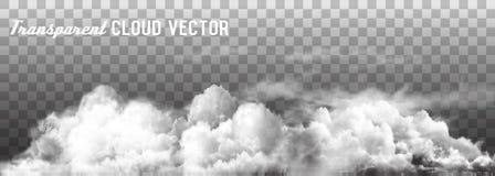 Las nubes vector en fondo transparente