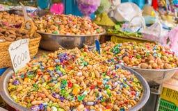 Las nueces y los dulces Imágenes de archivo libres de regalías