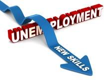 Las nuevas habilidades superan el desempleo Imagen de archivo