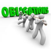 Las obligaciones redactan levantado por Team Workers Together Imagen de archivo libre de regalías