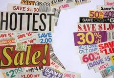 Las ofertas más calientes de la venta y de la cupón fotos de archivo