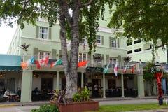 Las Ola大道的,劳德代尔堡河沿旅馆 免版税库存图片