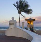 Las Ola海洋步行在Ft 劳德代尔- FT劳德代尔,佛罗里达2016年4月13日 库存照片