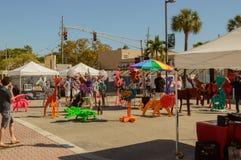 Las Olas art festival en mars 2018 pi du centre Lauderdale10 photographie stock libre de droits