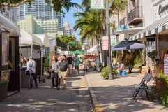 Las Olas art festival en mars 2018 pi du centre Lauderdale20 Photo stock