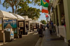 Las Olas Art festival March 2018 downtown Ft. Lauderdale6 royalty free stock images