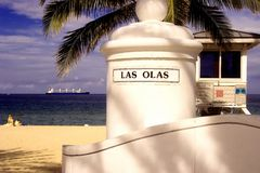 Las Olas Beach Royalty Free Stock Photography