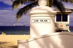 Las Olas Beach royalty free stock photography