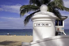 Las Olas Beach Royalty Free Stock Images