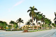 Las Olas Boulevard at Dusk Royalty Free Stock Photo