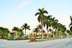 Las Olas Boulevard at Dusk Royalty Free Stock Photo